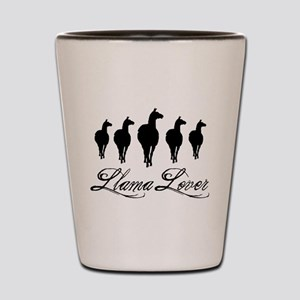 Llamas Llama Lover Shot Glass
